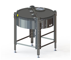 Rotary accumulation turntable